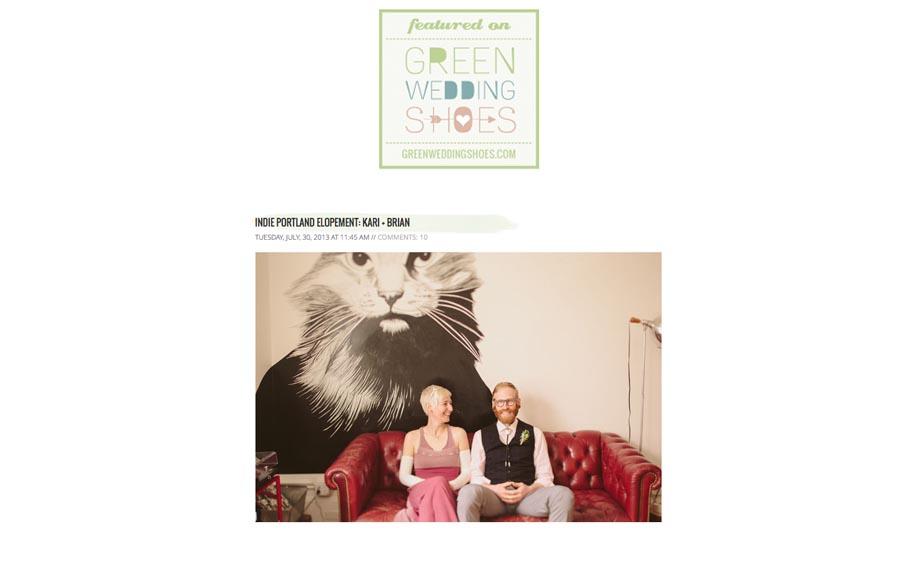 indie wedding, portland elopement, ace hotel wedding