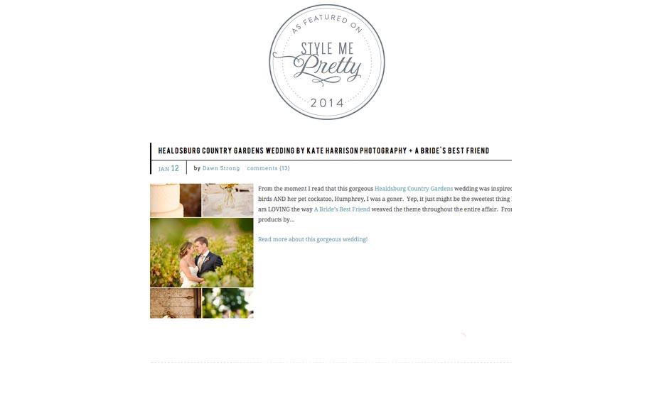 healdsburg wedding, bride's best friend, style me pretty