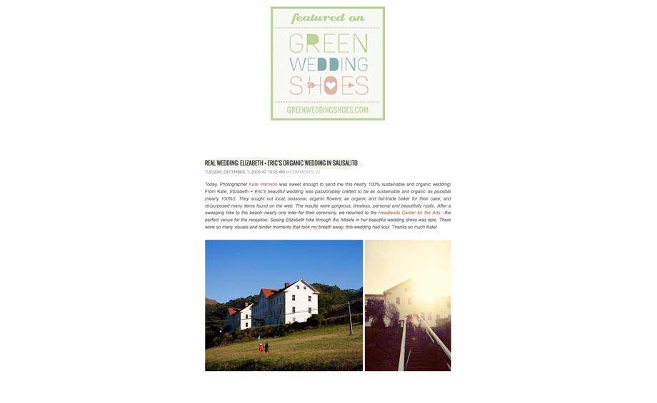 Green wedding, organic wedding, healdlands wedding