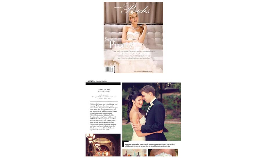 Palo Alto wedding featured in magazine