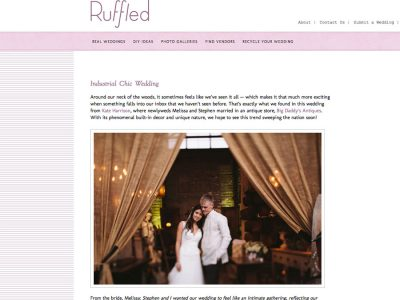 real wedding San Francisco published