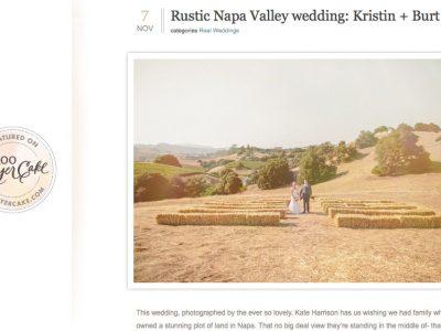 real wedding napa published