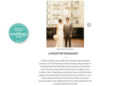 martha stewart SF wedding published