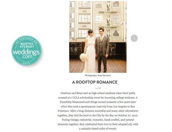 martha stewart SF wedding published