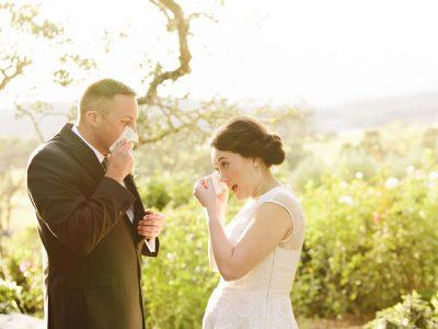tears at wedding