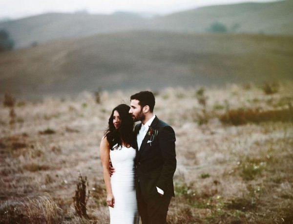 sunset Sonoma wedding