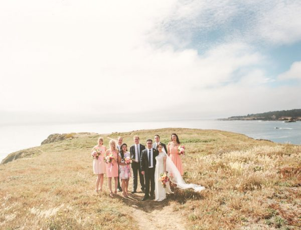 Intimate coastal wedding
