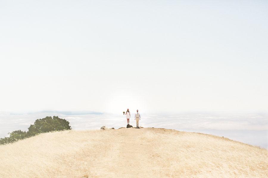 fog rolling in at stinson beach wedding