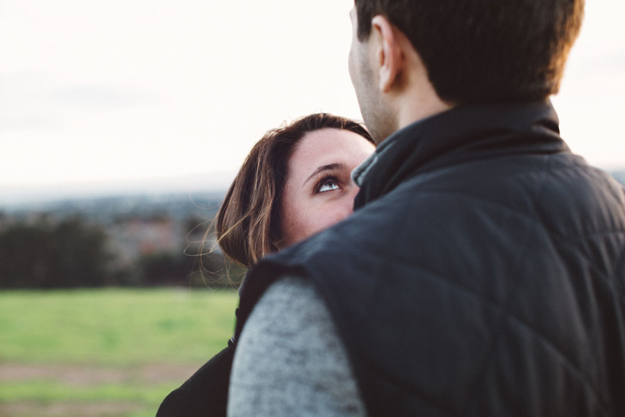 Sunset engagement session overlooking the SF Bay.