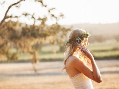 wedding floral crown