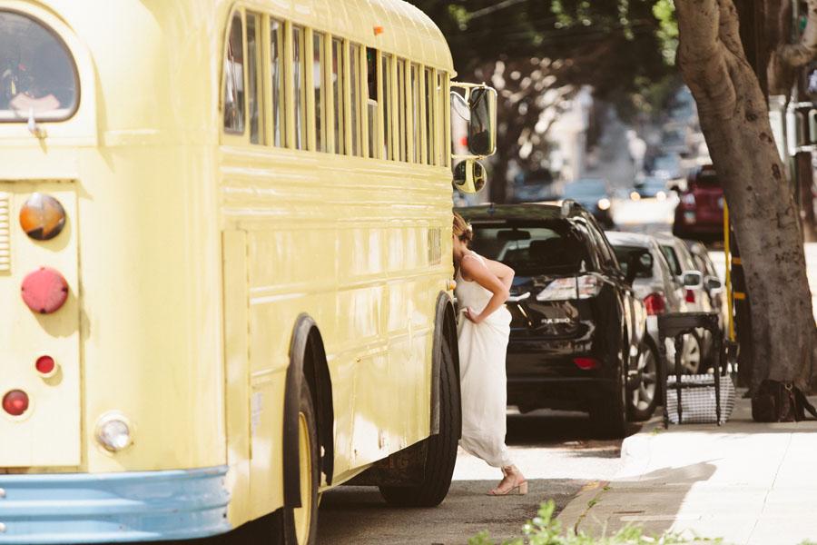Bride on bus