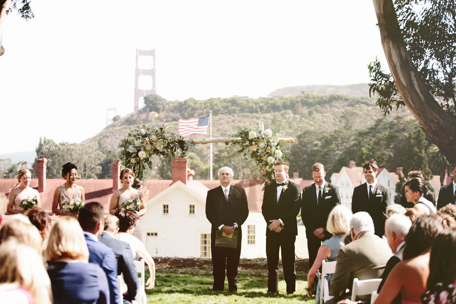 C J Were Married Overlooking The San Francisco Bay And Beautiful Golden Gate At Cavallo Point Windy Modern Full Of Life Beauty